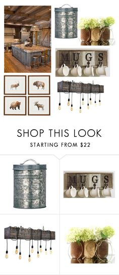 """""""Old log cabin"""" by hannahd03 ❤ liked on Polyvore featuring interior, interiors, interior design, home, home decor and interior decorating"""