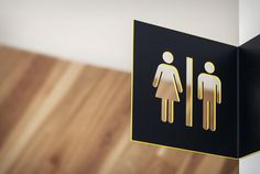 #signage #wayfinding #toilet #details #yellow #black  www.parka-architecture.com