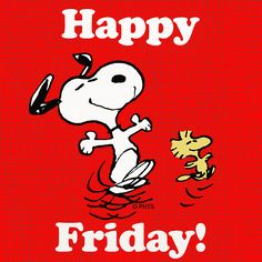 Snoopy and Woodstock are doing the Happy Friday Dance! Good Morning Snoopy, Good Morning Wishes, Good Morning Images, Good Morning Quotes, Morning Pics, Happy Morning, Snoopy Und Woodstock, Snoopy Love, Charlie Brown And Snoopy