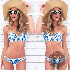 a9856a09a9e1d Sexy Bandeau Bikini Strapless   Push Up Bikini Strapless