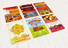 Poster, Flyer und Plakate fuer Herbstfeste und Erntedank