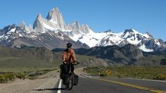 cicloturismo: Leaving Mount Fitzroy, Argentina