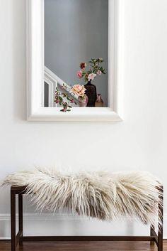 See inside the light and layered home of fashion designer Ulla Johnson in the summer 2016 issue of domino magazine. Interior Design Inspiration, Home Decor Inspiration, Decor Ideas, Farmhouse Side Table, Deco Boheme, Scandinavian Home, Interiores Design, Interior Styling, Interior And Exterior
