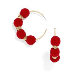 Diy Yarn Earrings, Cute Earrings, Earrings Handmade, Handmade Jewelry, Hoop Earrings, Glands, Fashion Jewelry, Women Jewelry, Women's Fashion