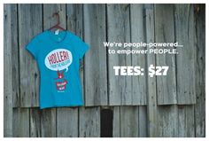 Get a Holler from the Hollers tee shirt, and help support rural progressives