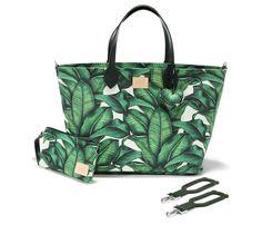 Banana Leaves pelenkázó táska L méret - Bubbaland.hu Stroller Bag, Banana Leaves, Tote Bag, Pram Sets, Totes, Tote Bags