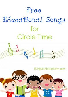 Free Educational Songs for Circle Time - Happy handwashing song, yes no please thank you song, the colours song, phonics songs...