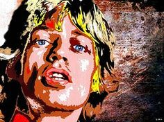 Mick Jagger Pop Art Paintings - Mick Jagger by Daniel Janda