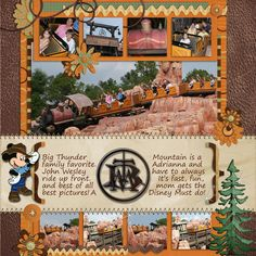 Disney Scrapbook Layout - Big Thunder Mountain Railroad