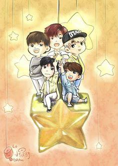 B1A4_ fan art_ cr on pic