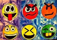 Different colors and facial features make each group of faces so . Unique and expressive! Although your average emoji . Different colors and facial features make each group of faces so . Unique and expressive! Although your average emoji . Fall Art Projects, School Art Projects, Emoji Design, 6th Grade Art, Jr Art, School Displays, Different Emotions, Art Therapy Activities, Middle School Art
