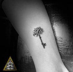 Skeleton key tattoo by Jude