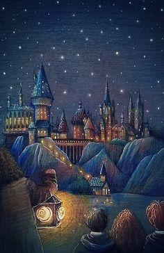 First look at Hogwarts School // Art by Nokeek @ deviantart – Harry Potter Harry Potter Fan Art, Hery Potter, Images Harry Potter, Harry Potter Poster, Mundo Harry Potter, Harry Potter Drawings, Harry Potter Universal, Harry Potter Fandom, Harry Potter World