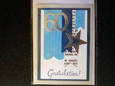 60.Geburtstag - Geburtstagskarte von Kreatives Herzerl auf DaWanda.com