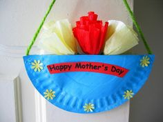 Mother's Day Hanging Paper Plate Craft - Mother's Day 2014 Crafts