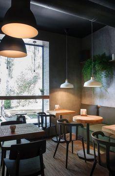 I Feel Espresso Bar - Picture gallery // Restaurant / Café Industrial Flooring, Industrial Interiors, Vintage Industrial, Industrial Furniture, Industrial Office, Kitchen Industrial, Industrial Storage, Industrial Shop, Industrial Bookshelf