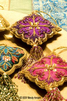 Image detail for -The Artful Gypsy: Bohemian christmas ornaments