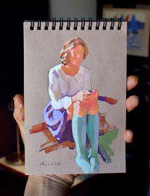 Gouache on kraft paper. Sketchbook Inspiration, Art Sketchbook, Painting Inspiration, Art Inspo, Gouache Painting, Painting & Drawing, Watercolor Paintings, Gouache Illustrations, Illustration Art