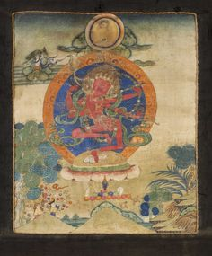 Kurukulla, Tibet, distemper on cloth, 26.5 x 21.5 cm (10 ½ x 8 ½ in), 18th-19th century. www.rossirossi.com