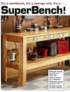 Simple Workbench Plans - Workshop Solutions