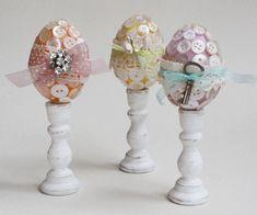 Button Easter eggs