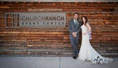 picture of bride & groom at Church Ranch Event Center in Denver