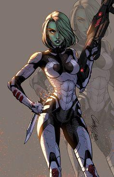 Gamora, logicfun color on ArtStation at https://www.artstation.com/artwork/aBdWq