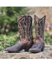 Ariat Women's Heritage Western R Toe Boot - Sassy Brown