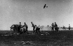 Old against new: Russian gunners manning light field guns on the Eastern Front in 1914