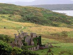 Clifden Castle, County Galway, Ireland.