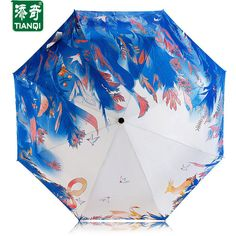 Tianqi three fold game pattern umbrella ($26) ❤ liked on Polyvore featuring accessories, umbrellas, white, white umbrella, print umbrella and folding umbrella