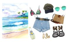 """Hawaii"" by lxxvii on Polyvore featuring ファッション, Lenny, Gucci, Lanvin と Chloé"