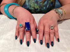 Turquoise and Diamond ring, Lapis Lazuli and silver ring, green amethyst diamond and gold ring…..WOW!  www.elysee.ca
