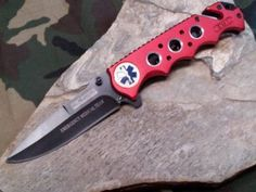 Tac Force Folding Assist Open EMT Rescue Knife Red - 611EMRBest #PohlForce Knife- www.ogbroker.com/home.php?cat=5018