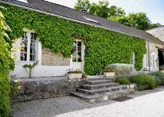 Le Petit Village   France Yonne Burgundy. Two delightful cottages near the Burgundy Canal. Large gardens, shared pool, toy-filled play barn and clotted cream teas
