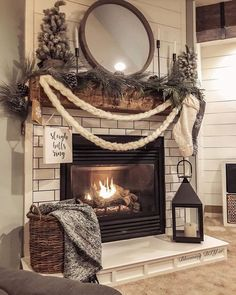Decorating your fireplace mantel adds a quality to the room. Of course, there are easy and creative themes to decorate your fireplace. home 24 Christmas Fireplace Decorations, Know That You Should Not Do Style At Home, Christmas Mantels, Christmas Home, Christmas Fireplace Decorations, Christmas Gifts, Fall Mantle Decor, Fall Decorations, Christmas Ideas, Christmas Living Rooms