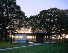 Philip Johnson, Glass House (New Canaan, CT) 1949 and other photographs of famous architectural works // By Korab