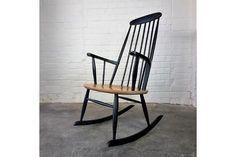 Mid Century Vintage Danish Rocking Chair By Farstrup Mobler 1960's | Vinterior   #midcentury #modern #20thcentury