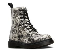 PASCAL - Artwork by Mark Wigan. Head to the Dr Marten's website to check out the collaboration.