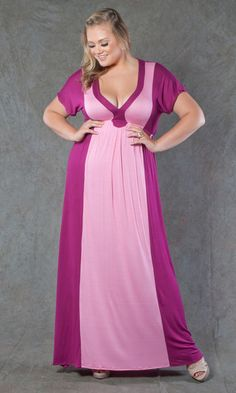 Beautiful picture of the Magenta w/Pink Two-Tone Dress $69
