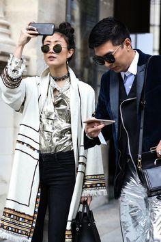 Street looks au défilé Dior
