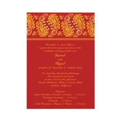 Indian Wedding Invitation 2-sided by all_items