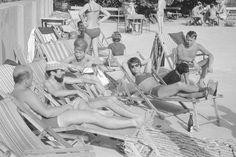 Lans na basenach Legii - lata 60 - fot. Zbyszko Siemaszko