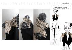 Fashion Portfolio - fashion design drawings and design development; fashion sketchbook // Stefanie Nieuwenhuyse