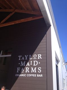 Taylor Maid Farms organic coffee is AKA!