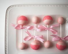 Omygoodness, here's yet another, WHY DIDN'T I THINK OF THAT?!?!? moment!!!!  Baby shower/baby rattle Cake pops • CakeJournal.com  You go, Cake Journal!! :o) ♥