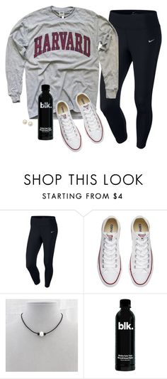 """""""Big tee"""" by aweaver-2 on Polyvore featuring NIKE, Converse and Honora"""