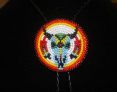 eagle feathers bolo tie by deancouchie on Etsy