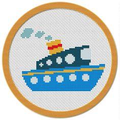 Navio marinheiro ponto cruz