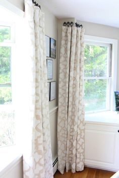 DIY Project Ideas: 10 Window Treatments for Under $50  This might be what I need in my living room! I want to highlight the architecture of my windows instead of block them.